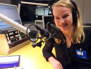 Martina Weiser im Studio des DLF zum Thema ProstSchG